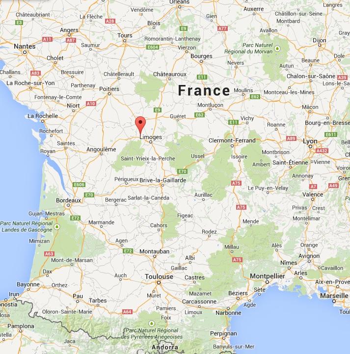 Mapa Sur De Francia Ciudades.Oradour Sur Glane Mapa Mapa